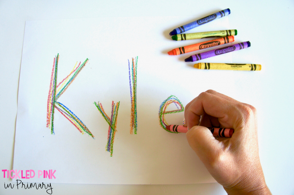 writing names in different colors