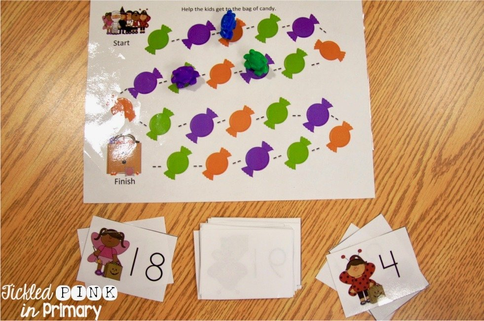 Halloween games ( working on numbers )