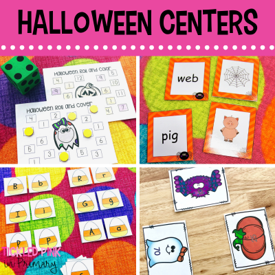 HALLOWEEN ACTIVITIES FOR MATH and LITERACY CENTERS