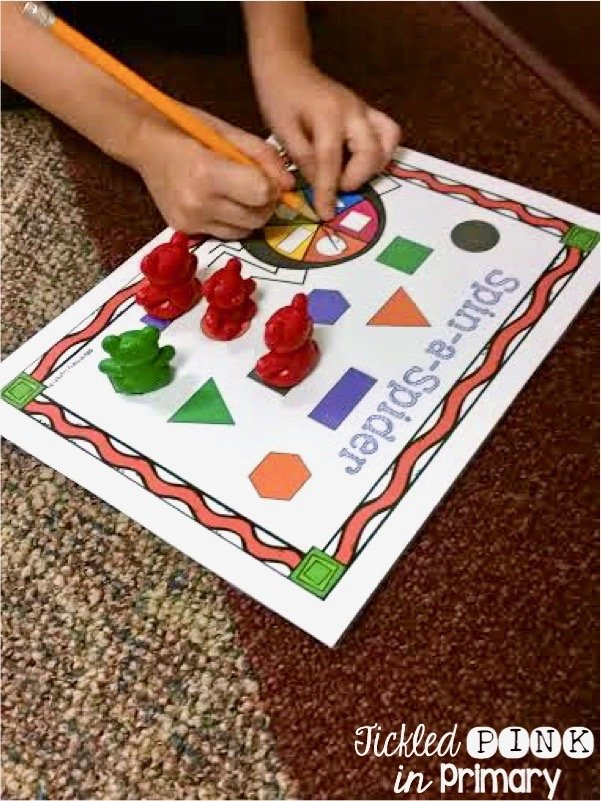 Spin a Spider - (Shape, Numbers and Color Words )