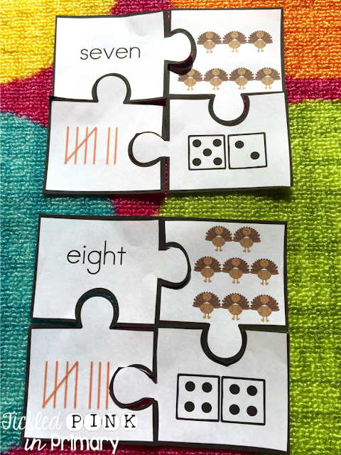 Thanksgiving number sense puzzles