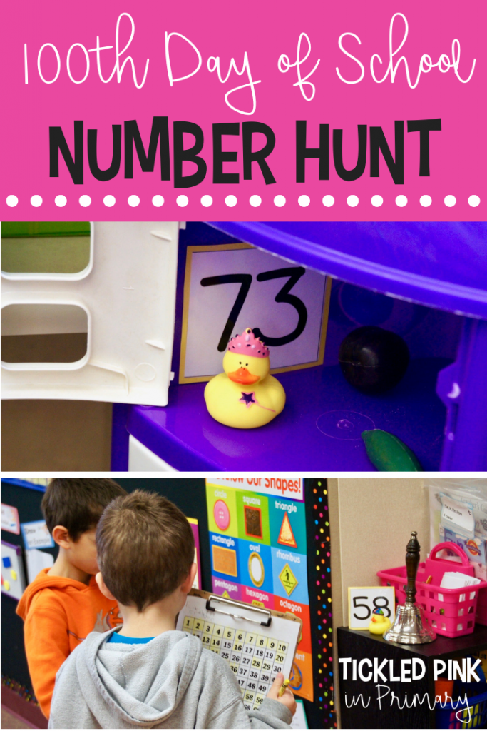 100th Day of School - Number Hunt