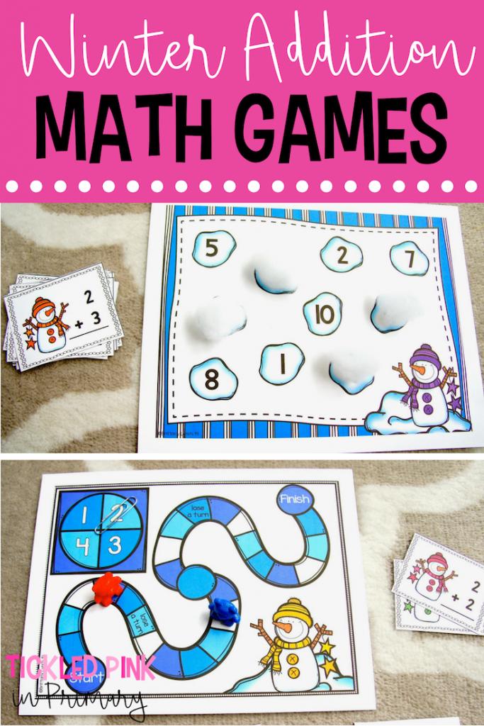 Winter Addition Math Games - Winter Activity Center