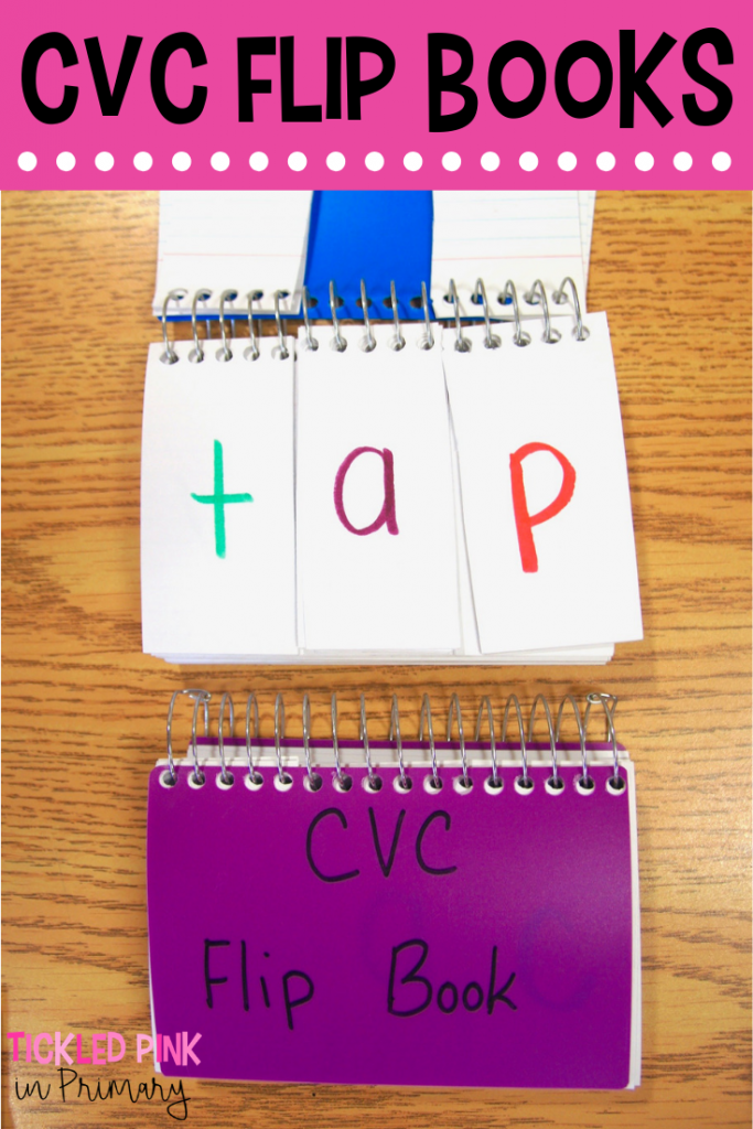 Students will learn how to substitute sounds to make new words with these CVC flip books. Great practice for phoneme substitution! #cvcwords #wordwork #phonemesubstitution #kindergarten #firstgrade