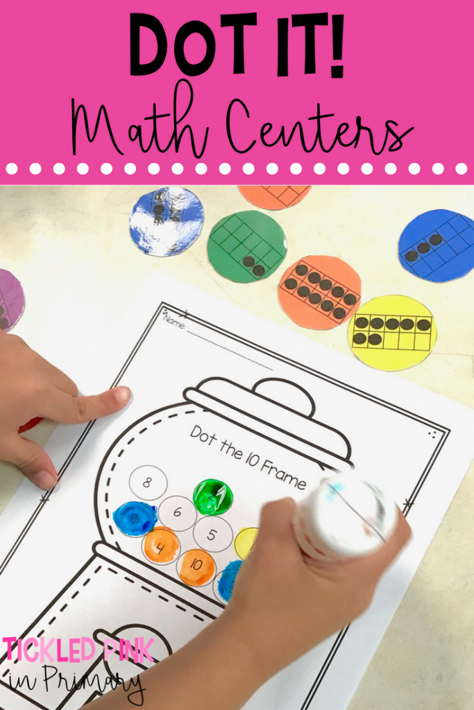 Bingo dabber activities for number sense math centers
