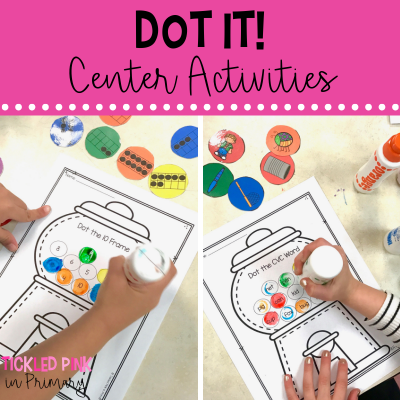 bingo dabber activities for literacy centers and math stations