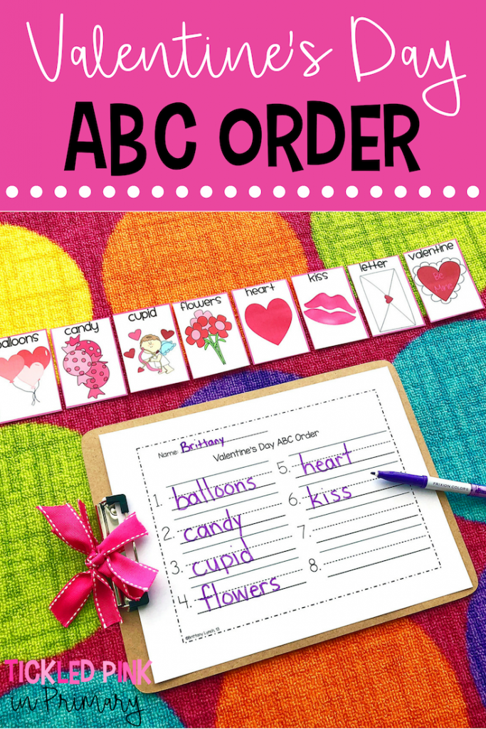 Valentine's Day Activities ABC Order game