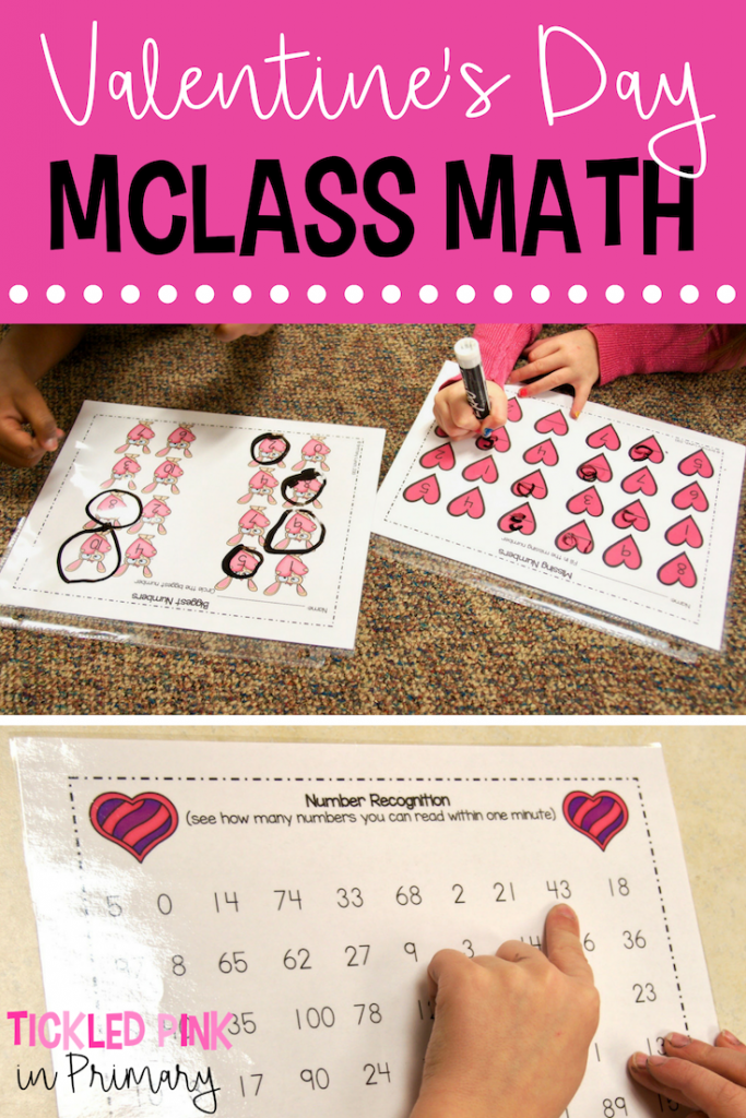 Valentine's Day MCCLASS MATH - Valentine's Day Activities