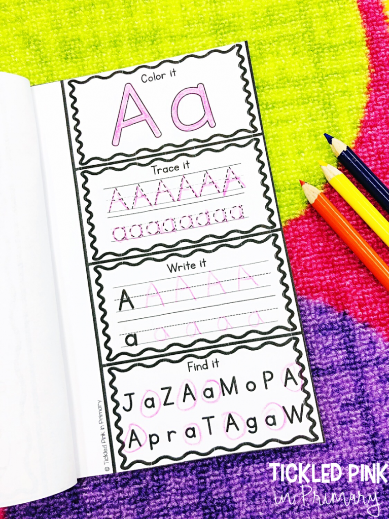 alphabet book to write letters