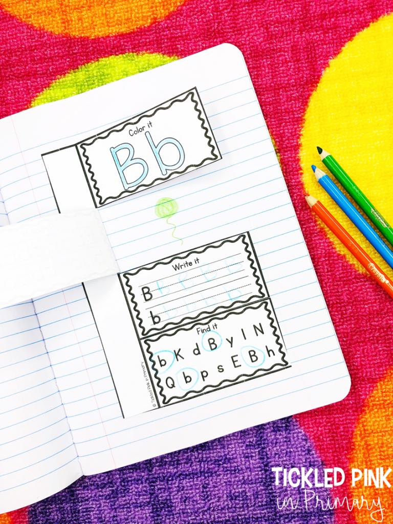 alphabet practice in interactive notebook