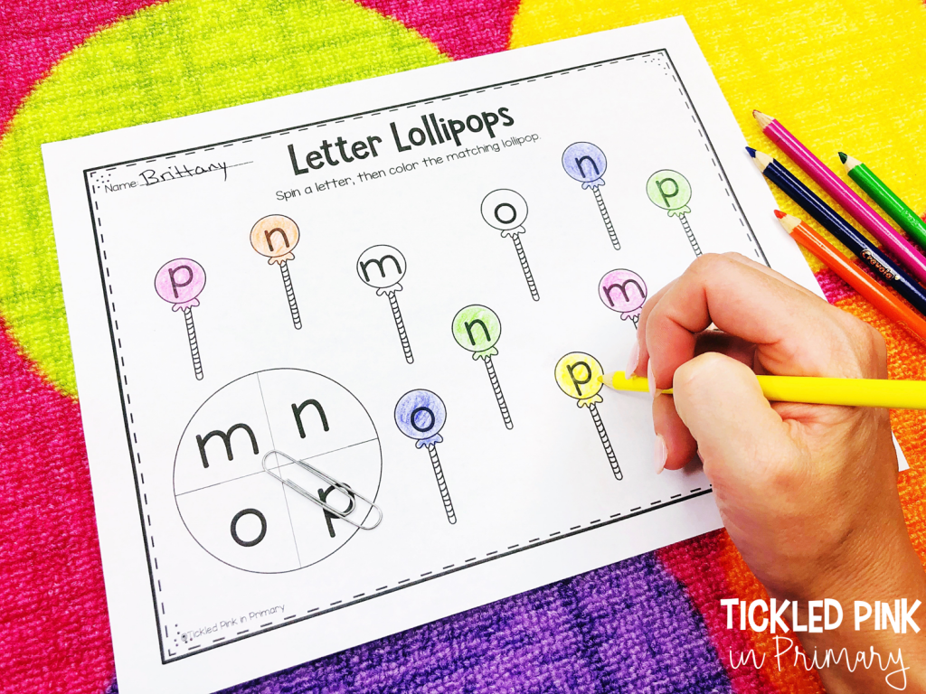 worksheet for kids to match letters and color the answer