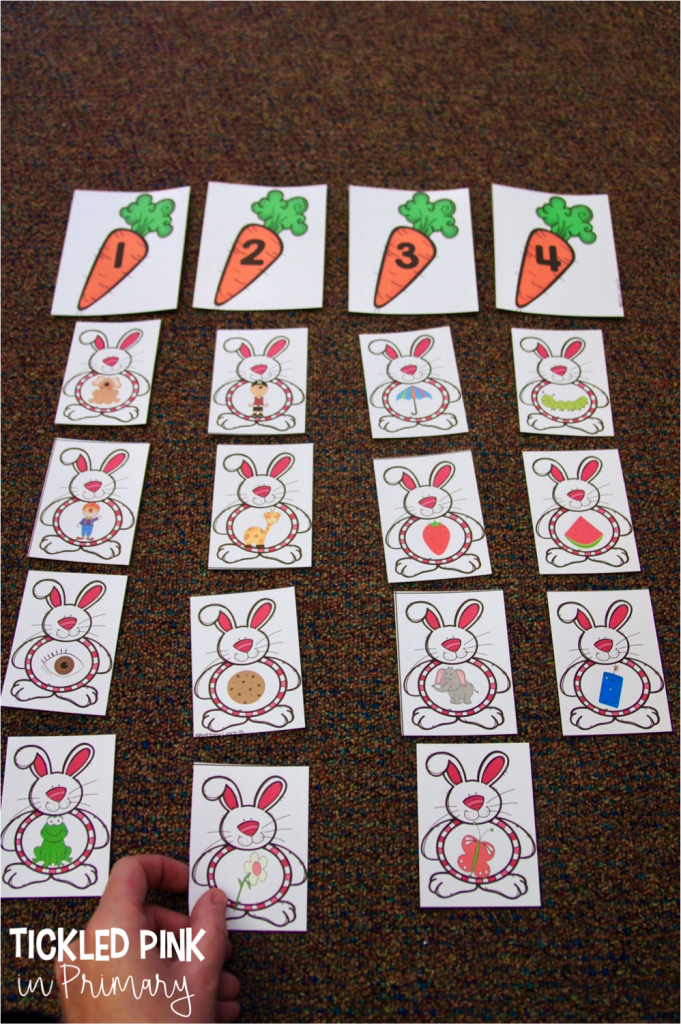 Check out these Kindergarten Easter centers for literacy or math such as this Easter digraphs activity. #kindergarten #digraphs #literacycenters #eastercenters #firstgrade