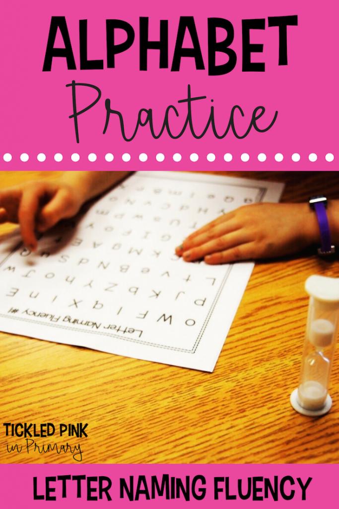 Alphabet Practice - Letter Naming Fluency