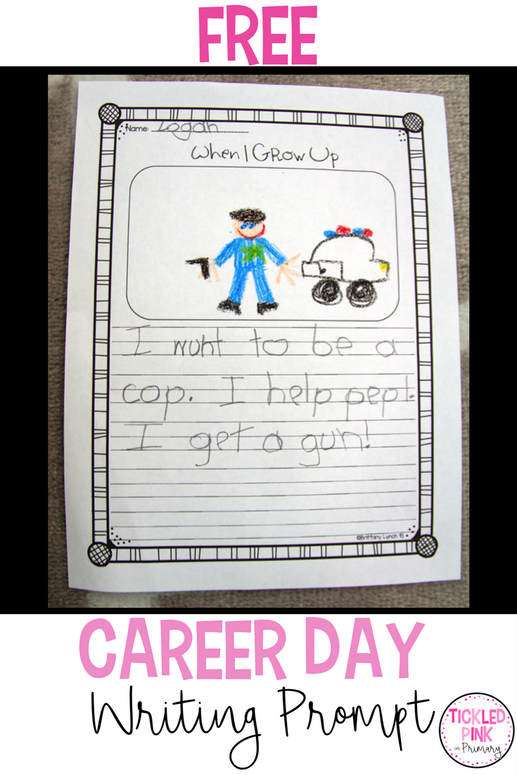 Career Day Writing Prompt - Kindergarten Career Day