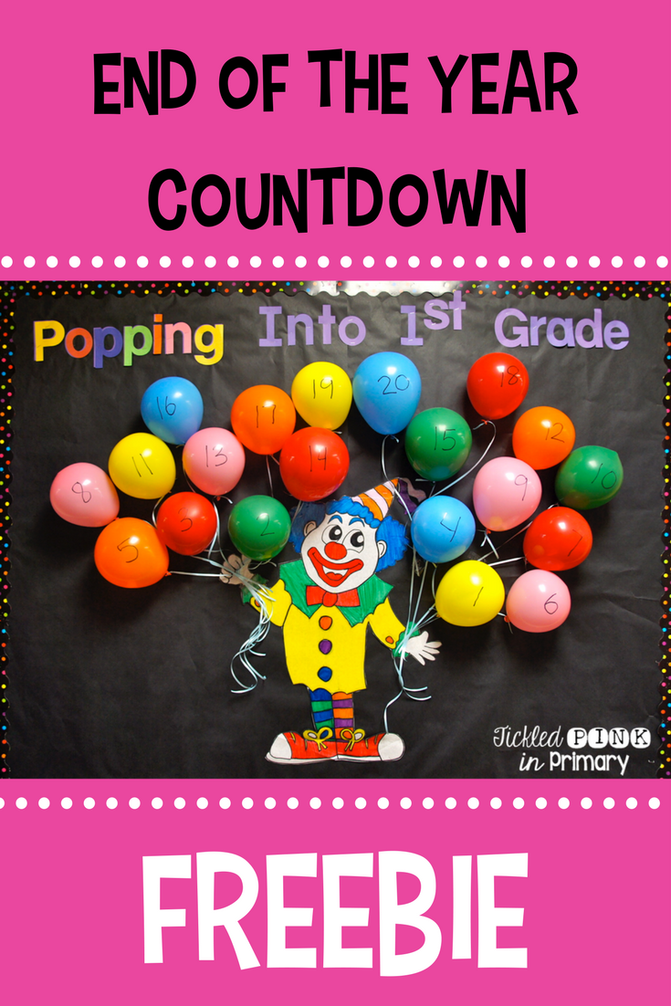End of the Year Countdown - Freebie