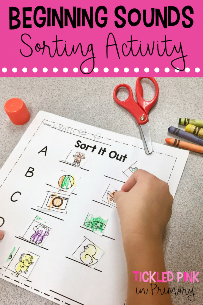 Beginning Sounds Activities - Sorting Activity