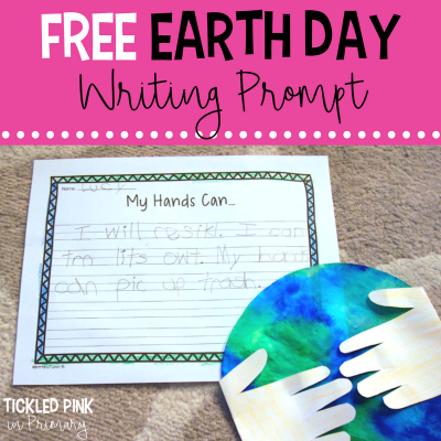 FREE Earth Day writing prompt and craft