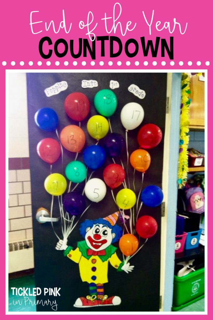 End of the Year Countdown - Balloon Popping Bulletin Board
