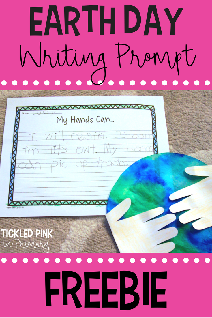 Get ready for Earth Day with this easy craft and FREE writing prompt!
