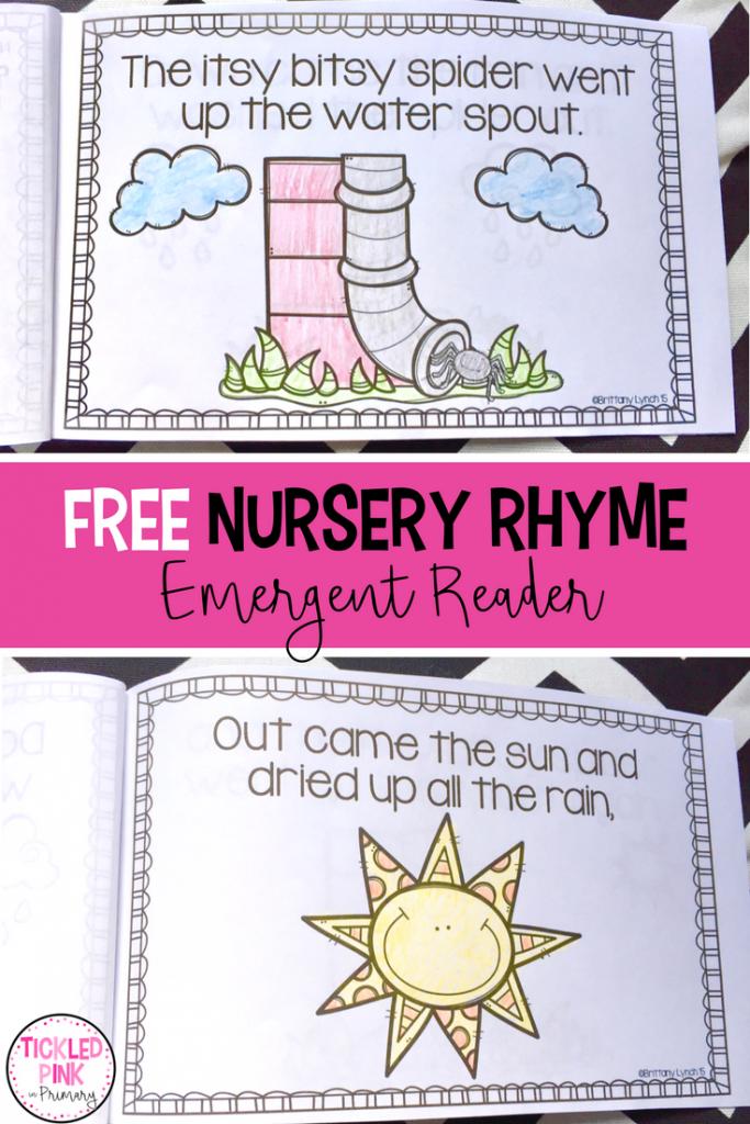 nursery rhyme free itsy bitsy spider book