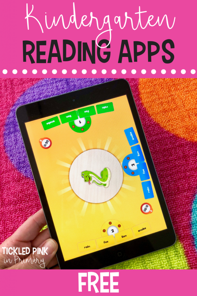 This free kindergarten reading app will help students with fluency and reading simple words. Click to find more ipad kindergarten apps for FREE! #kindergarten #kindergartenapps #free #ipadgames #ipadapp #wordwork