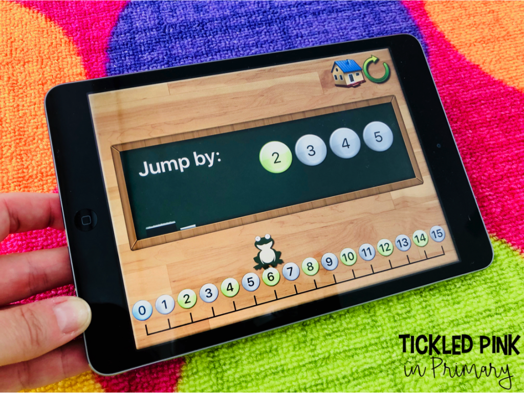 Help your students work on skip counting with this free iPad math app. Check out these 10 iPad kindergarten ipad apps for FREE. #kindergartenapps #free #skipcounting #kindergarten #ipadgames