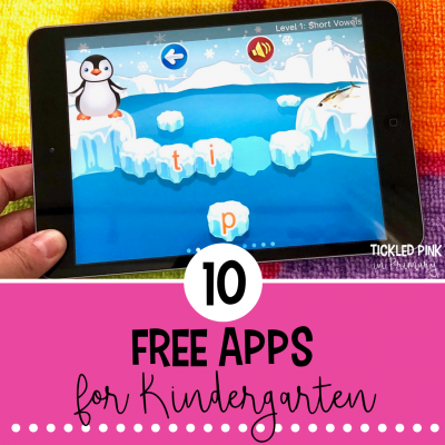 Check out these 10 free kindergarten ipad apps for reading and math. #kindergartenapps #free #kindergarten #ipadgames