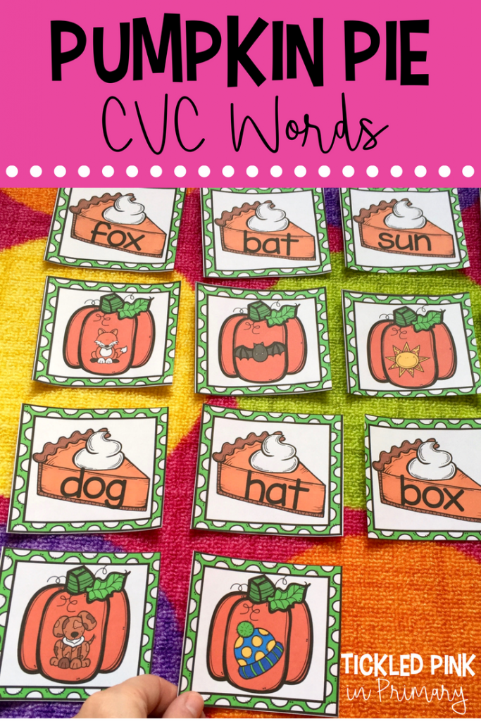 Learning about Pumpkins - Pumpkin Pie CVC Words