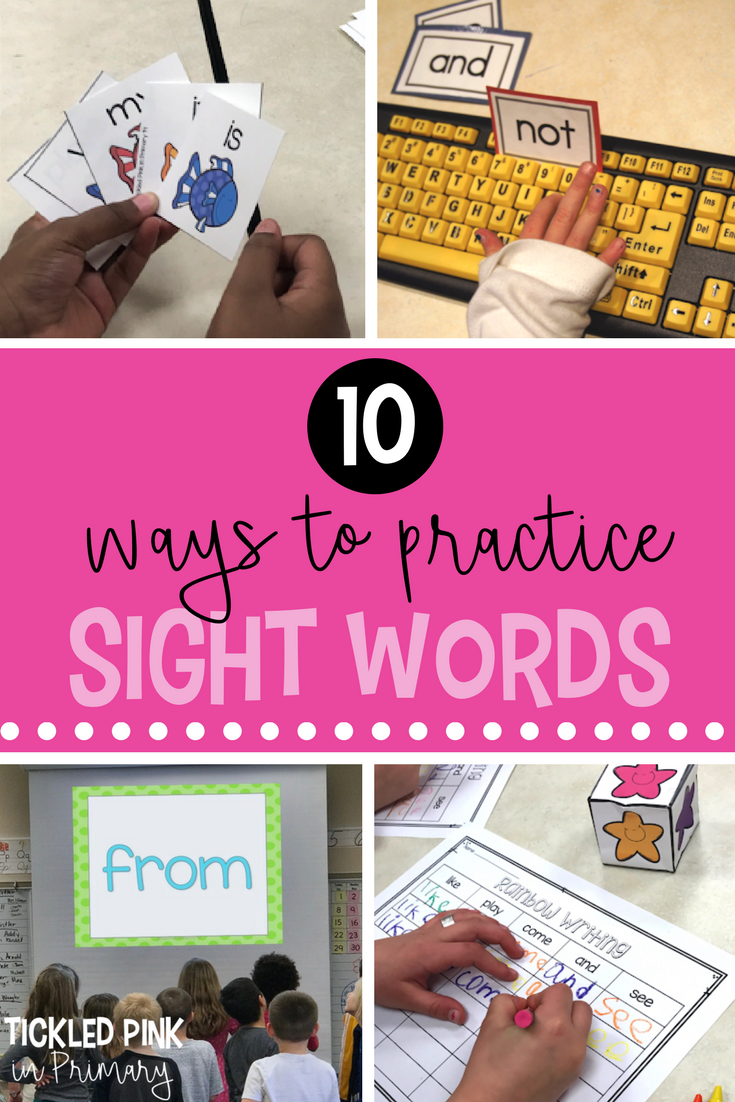 Sight Word Activities in a photo collage