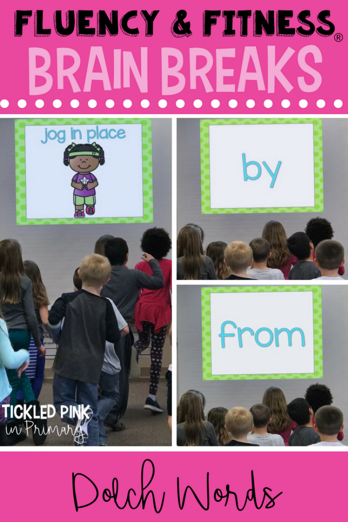 sight words on a screen along with an exercise for kids to do after reading words