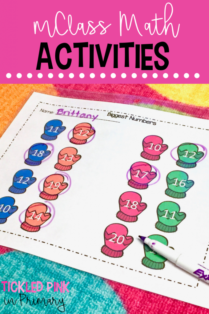 Comparing Numbers Activities - mClass Math Activities