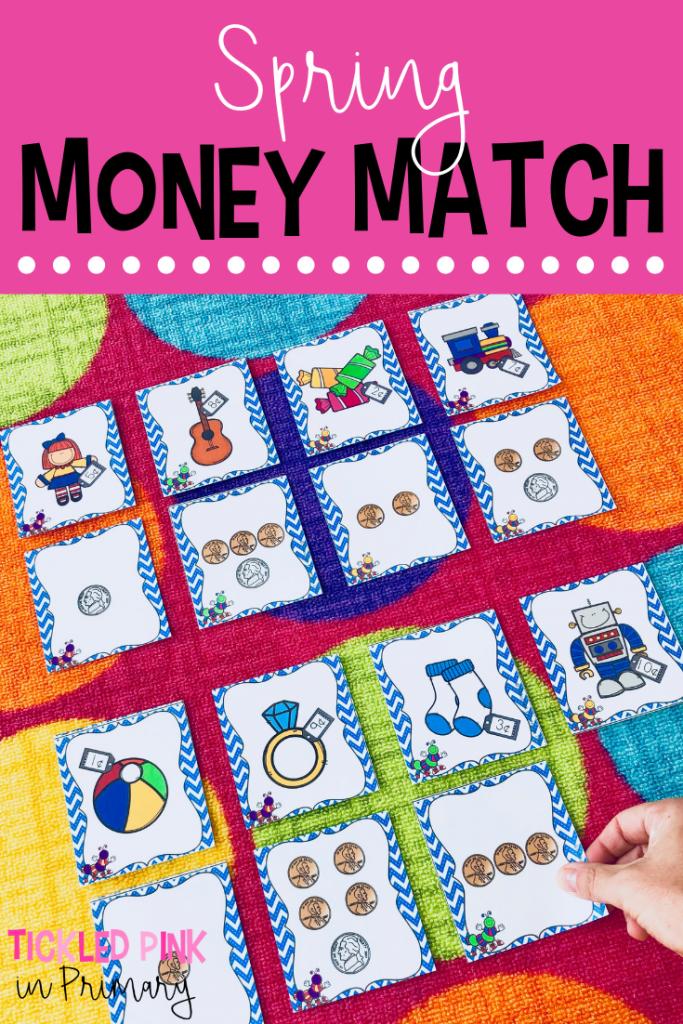 Kindergarten Spring Centers - Spring Money Match