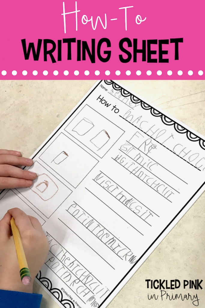Classroom Writing Center - Writing Sheet