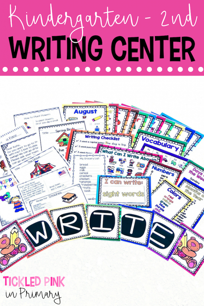 WRITING CENTER FOR KINDERGARTEN, 1ST GRADE, 2ND GRADE