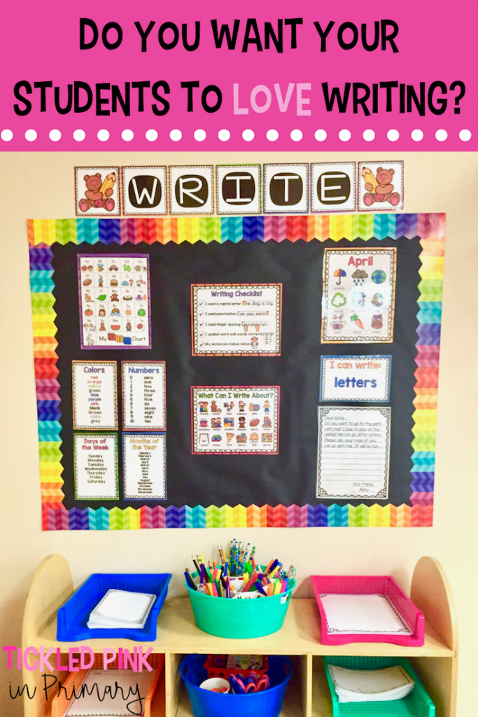 A Classroom Writing Center Students Will LOVE
