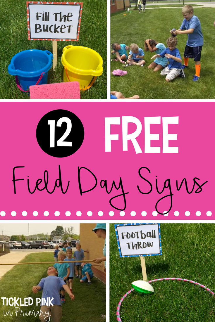 12 Free Field Day Signs