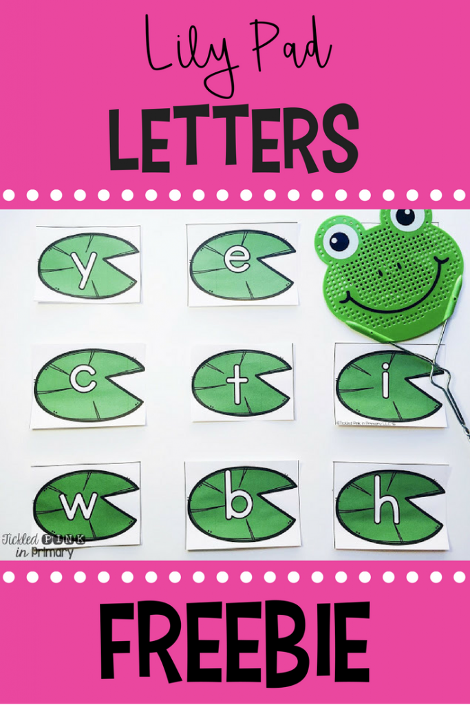 Lily Pad Letters Freebies