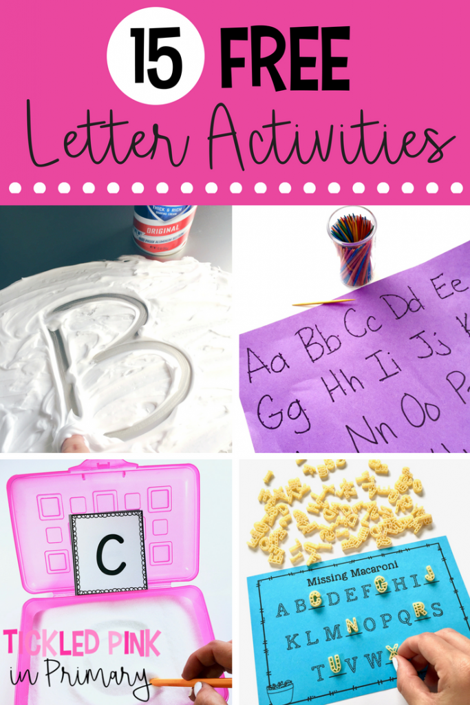 15 FREE engaging letter activities to teach students the alphabet