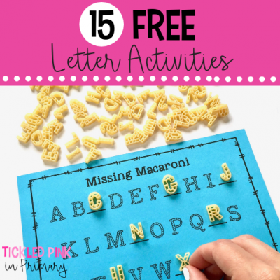 FREE macaroni alphabet matching activity