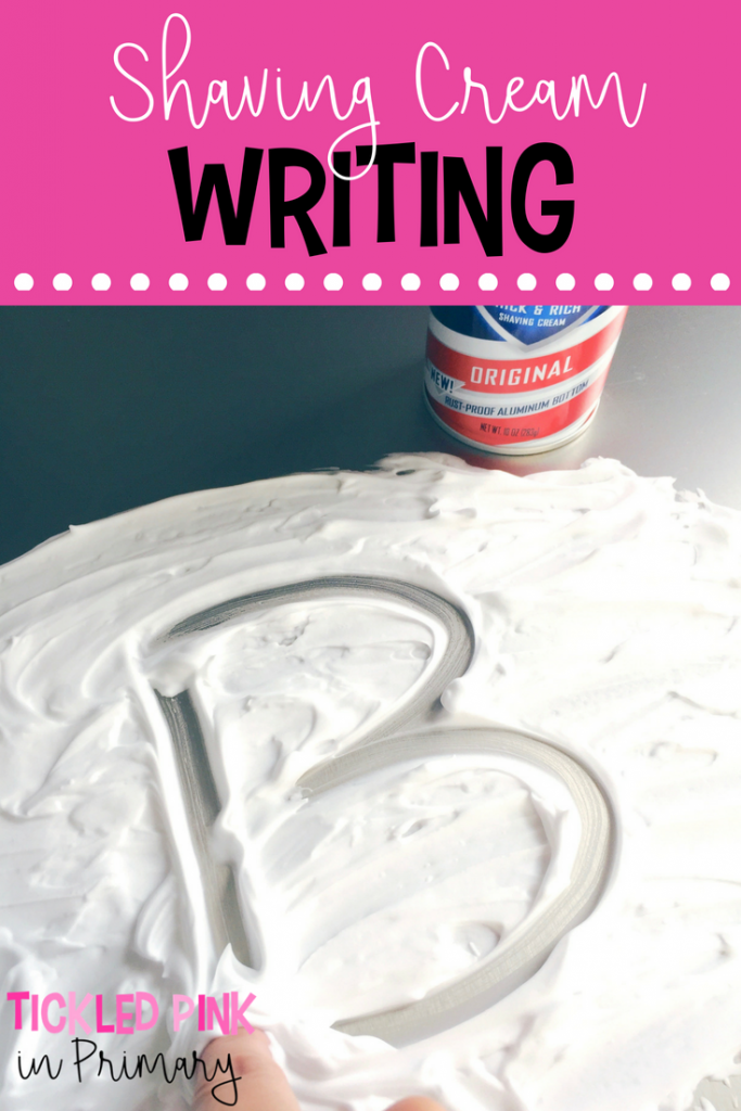 Free Letter Activities - Shaving Cream Writing