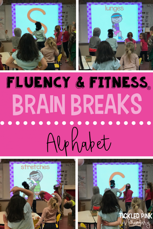 alphabet letters fluency and fitness classroom brain breaks