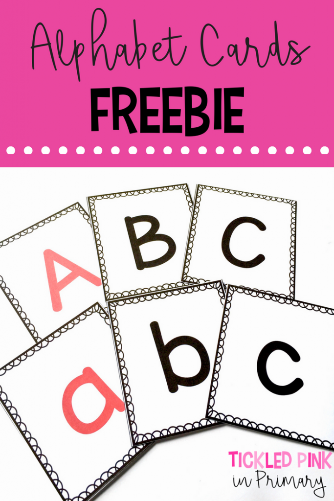 Free Letter Activities - Alphabet Cards Freebie