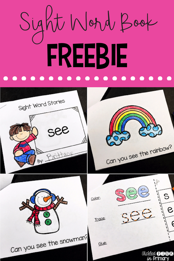 Sight Word Books - Sight Word Book Freebie