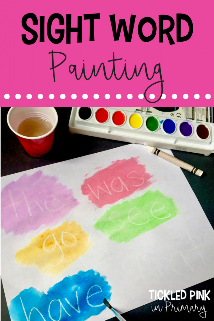 painting sight words