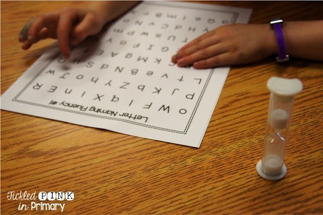 Student Data - Alphabet Worksheets and Center Activities