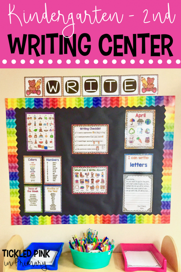 Kindergarten through 2nd grade writing center