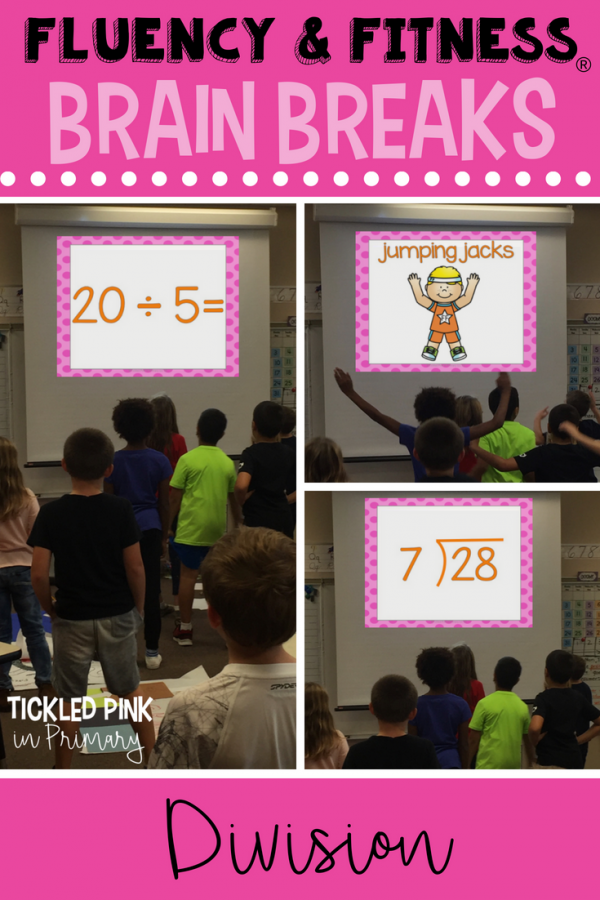 division math facts fluency and fitness brain breaks