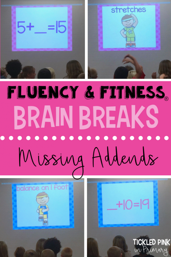 missing addends math facts brain breaks fluency and fitness