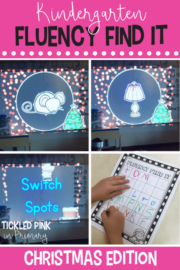 kindergarten christmas fluency find it sounds