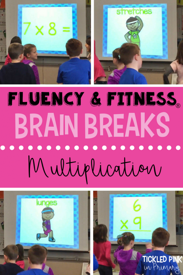 multiplication math facts fluency and fitness brain breaks for kids